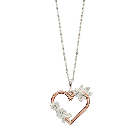 Heart and Flowers Necklace from the Necklaces collection at Argenteus Jewellery