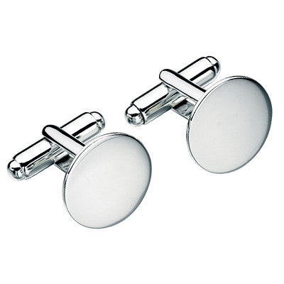 Sterling Silver Round Polished Cufflinks from the Cufflinks collection at Argenteus Jewellery