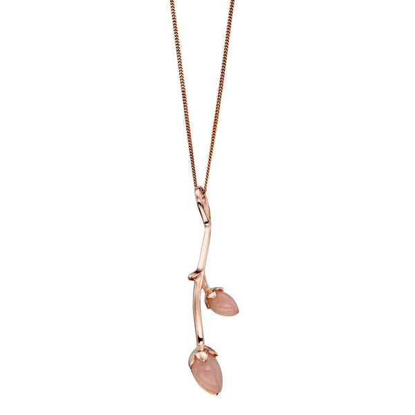 Rosebud Necklace in Rose Jade from the Necklaces collection at Argenteus Jewellery