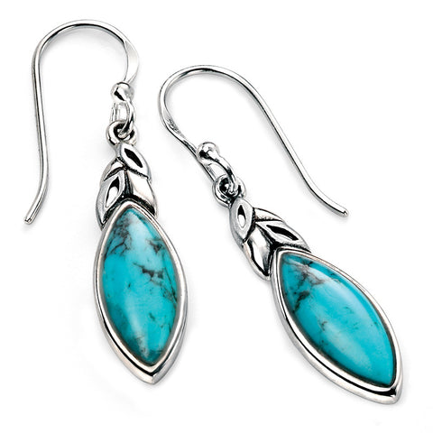 Turquoise Marquis Drop Earrings from the Earrings collection at Argenteus Jewellery
