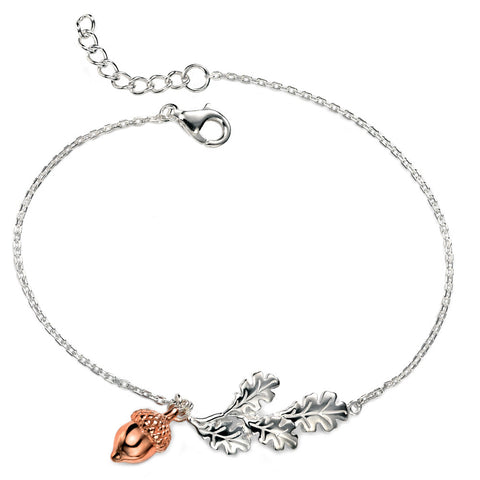 Oak Leaves & Acorn Bracelet from the Bracelets collection at Argenteus Jewellery