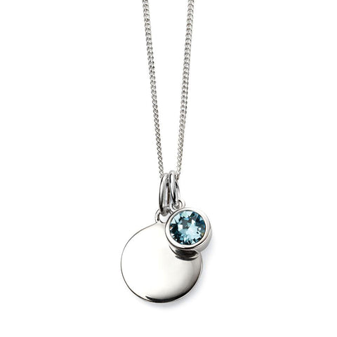 Birthstone Necklace-March Aquamarine from the Necklaces collection at Argenteus Jewellery