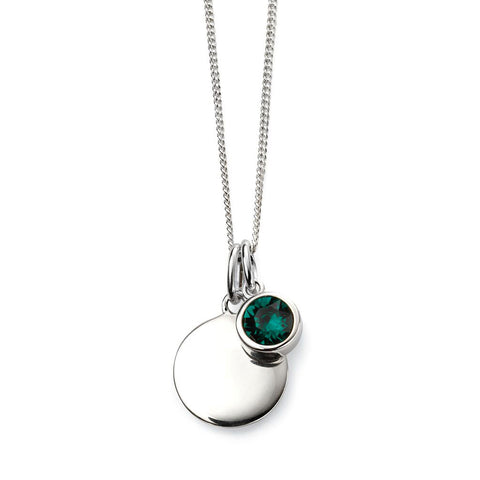 Birthstone Necklace-May Emerald from the Necklaces collection at Argenteus Jewellery