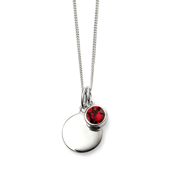Birthstone Necklace-July Ruby from the Necklaces collection at Argenteus Jewellery