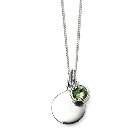 Birthstone Necklace-August Peridot from the Necklaces collection at Argenteus Jewellery