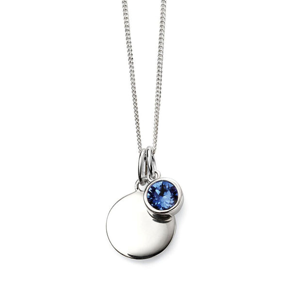 Birthstone Necklace-September Sapphire from the Necklaces collection at Argenteus Jewellery