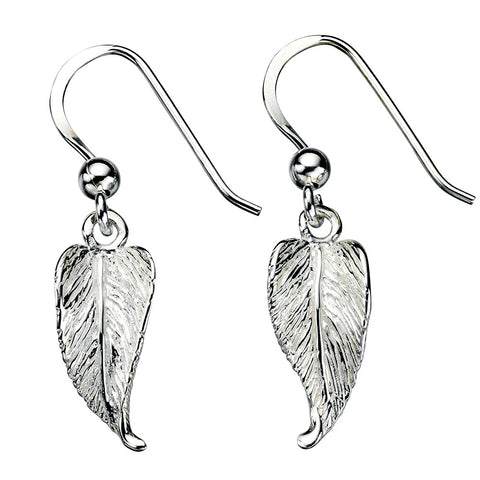 Curly Leaf Drop Earrings from the Earrings collection at Argenteus Jewellery