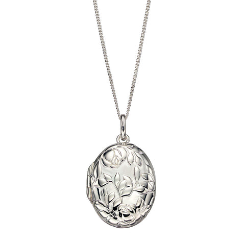 Rose Bush Locket Necklace