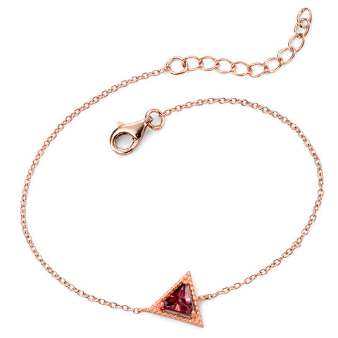 Plum Triangle Crystal Bracelet from the Bracelets collection at Argenteus Jewellery