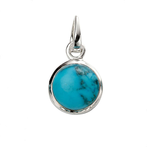 Circle Pendant - Blue Magnesite from the Pendants collection at Argenteus Jewellery