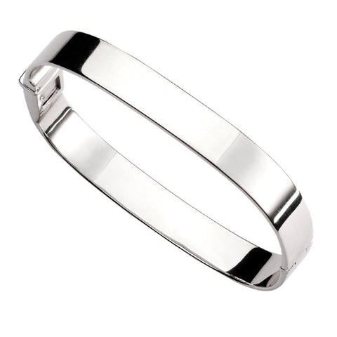 Wide Rectangle Bangle from the Bangles collection at Argenteus Jewellery