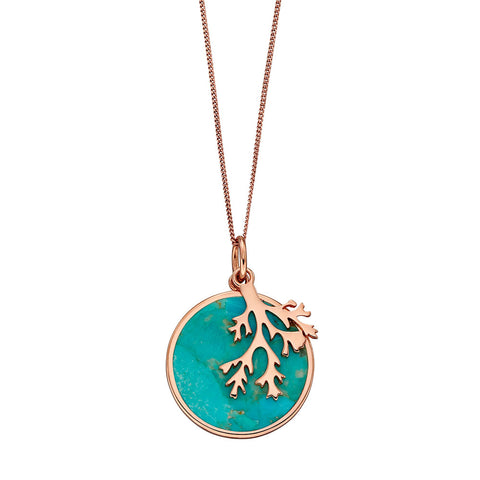 Turquoise and Branch Necklace from the Necklaces collection at Argenteus Jewellery