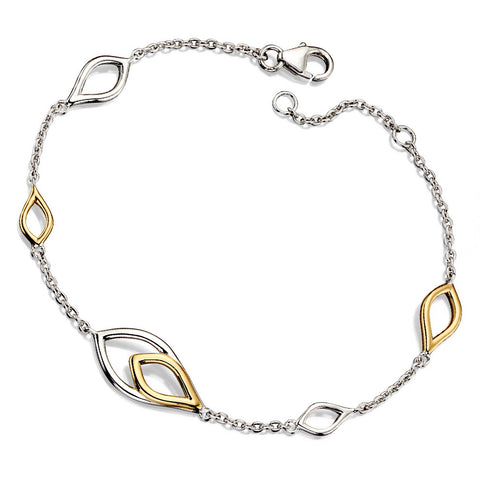 Golden Flame Bracelet from the Bracelets collection at Argenteus Jewellery