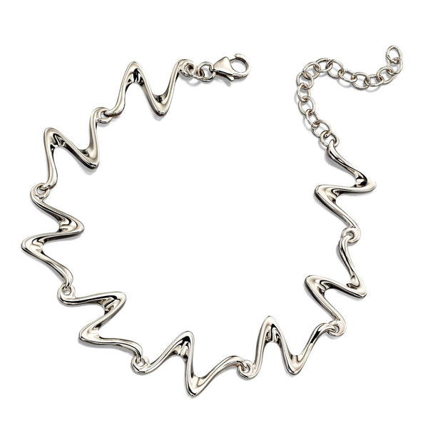 Flowing Sculpture Silver Bracelet from the Bracelets collection at Argenteus Jewellery