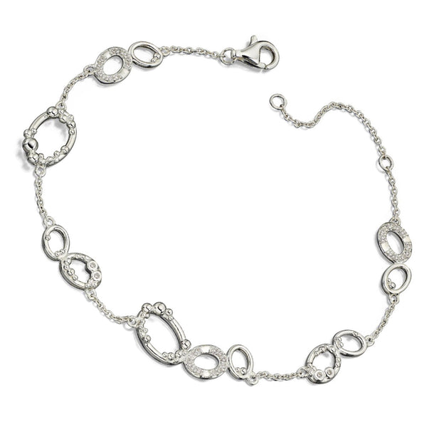 Crystalline Organic Circles Bracelet from the Bracelets collection at Argenteus Jewellery