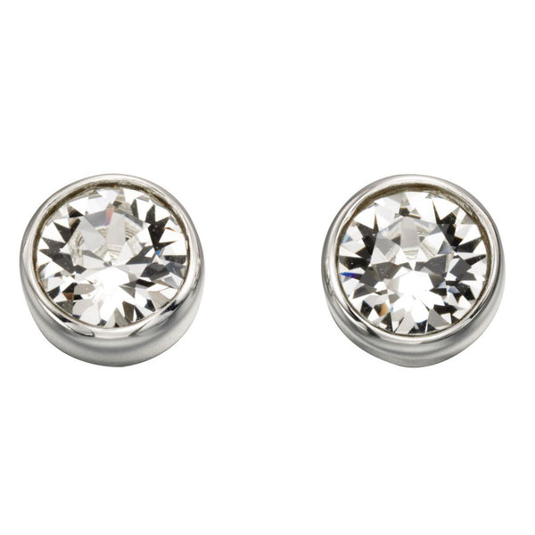 Birthstone Earrings-April Crystal from the Earrings collection at Argenteus Jewellery