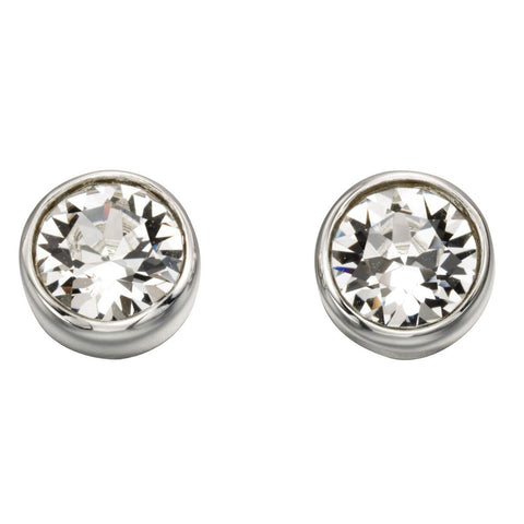 Birthstone Earrings-April Crystal