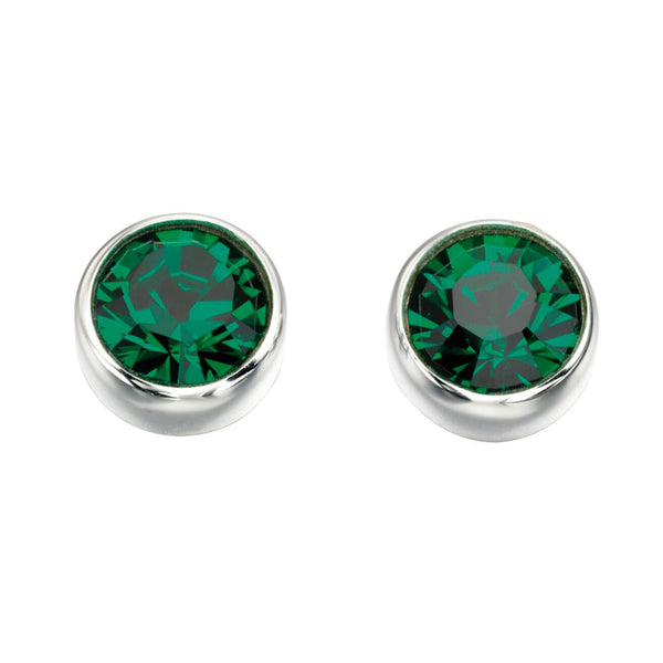Birthstone Earrings-May Emerald from the Earrings collection at Argenteus Jewellery