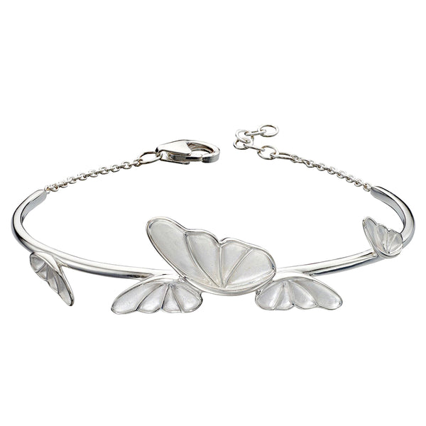 Butterfly Satin Finish Bracelet from the Bracelets collection at Argenteus Jewellery