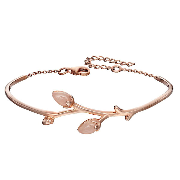 Rosebud Bracelet in Rose Jade from the Bracelets collection at Argenteus Jewellery