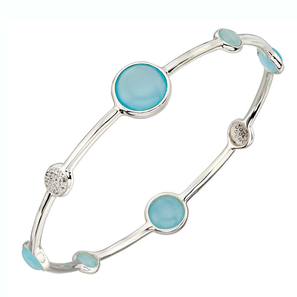 Aqua Agate Round Bangle from the Bangles collection at Argenteus Jewellery