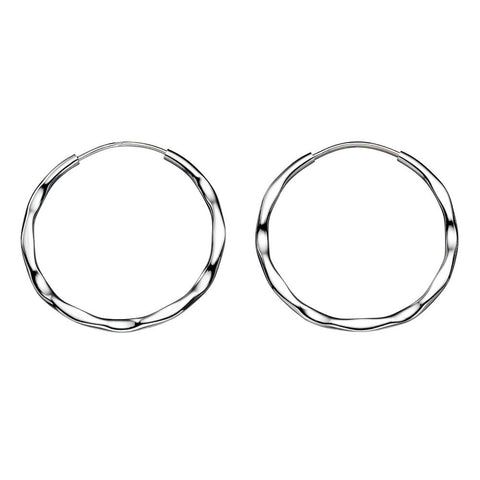 Hoop Earrings - Hammer Finish from the Earrings collection at Argenteus Jewellery
