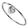 Heart Charm Bangle -  Hammer Finish from the Bangles collection at Argenteus Jewellery
