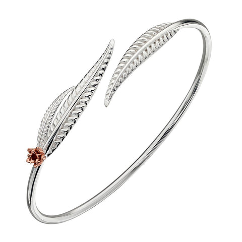 Leaf and Flower Bangle from the Bangles collection at Argenteus Jewellery