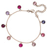 Rainbow Pink Crystal Bracelet from the Bracelets collection at Argenteus Jewellery