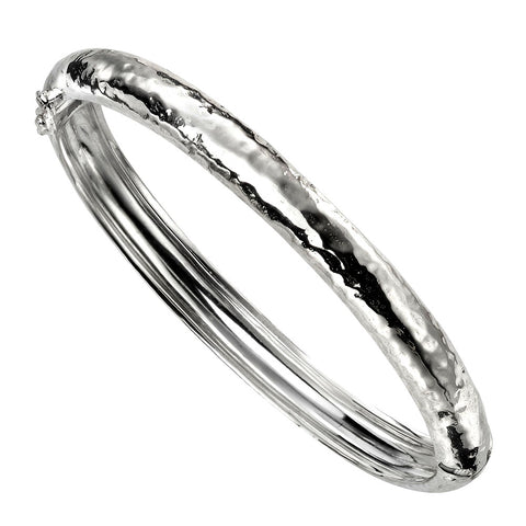 Bangle - Hammer Finish from the Bangles collection at Argenteus Jewellery