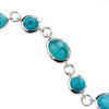 Circle and Oval Bracelet - Blue Magnesite from the Bracelets collection at Argenteus Jewellery
