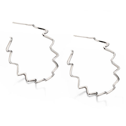 Flowing Sculpture Earrings from the Earrings collection at Argenteus Jewellery
