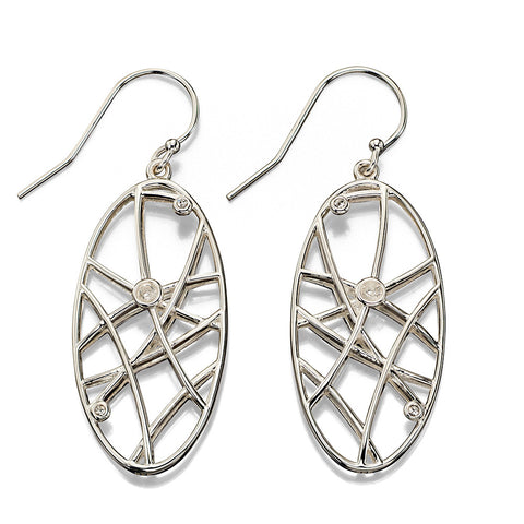 Random Lines Oval Earrings