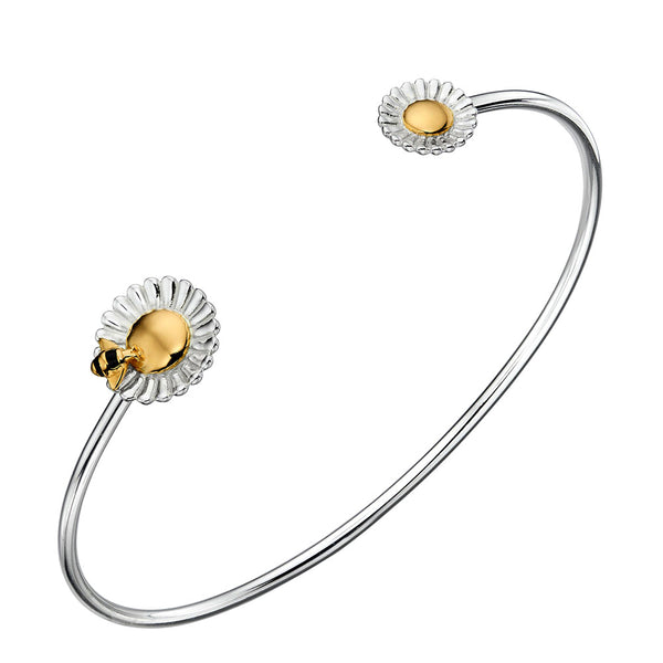 Bee and Flower Bangle from the Bangles collection at Argenteus Jewellery
