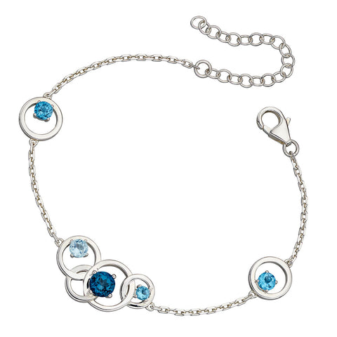 Links of Circles Topaz Bracelet from the Bracelets collection at Argenteus Jewellery