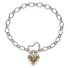 Tapestry Heart Padlock Bracelet from the Bracelets collection at Argenteus Jewellery