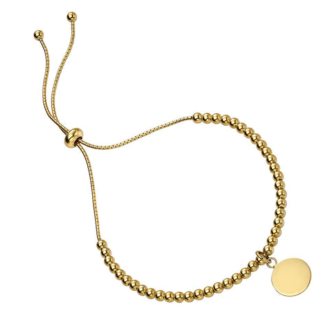 Disc Charm Bracelet - Gold Plated