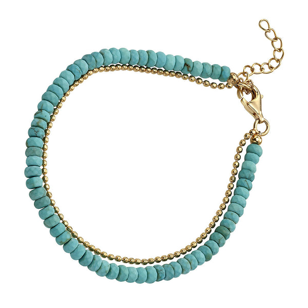 Bead Bracelet - Blue Magnesite from the Bracelets collection at Argenteus Jewellery