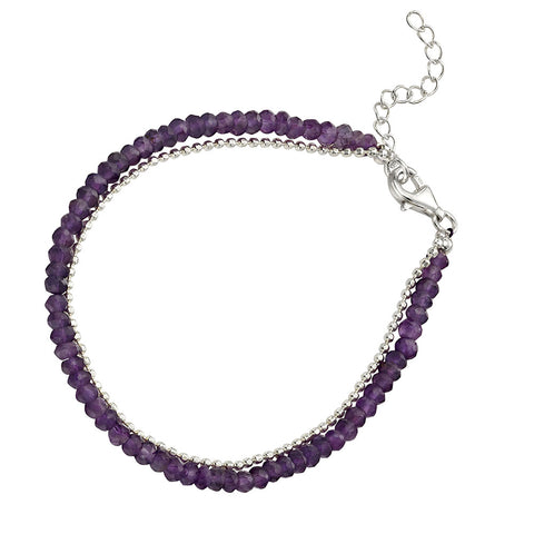 Bead Bracelet - Amethyst from the Bracelets collection at Argenteus Jewellery