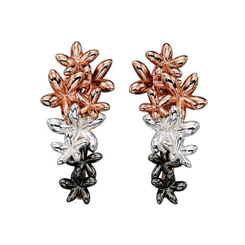 Five Petal Flowers Earrings from the Earrings collection at Argenteus Jewellery