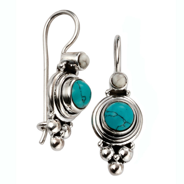 Turquoise Drop Earrings from the Earrings collection at Argenteus Jewellery