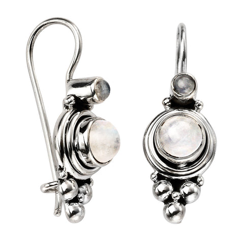Moonstone Drop Earrings from the Earrings collection at Argenteus Jewellery