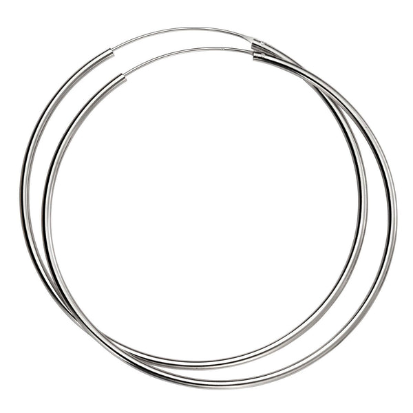 70mm Silver Hoops from the Earrings collection at Argenteus Jewellery