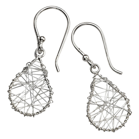 Wire Mesh Teardrop Earrings from the Earrings collection at Argenteus Jewellery