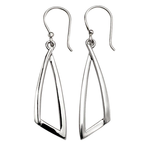 Curved Triangle Drop Earrings from the Earrings collection at Argenteus Jewellery
