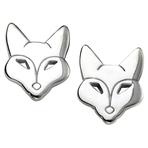 Fox Face Stud Earrings from the Earrings collection at Argenteus Jewellery