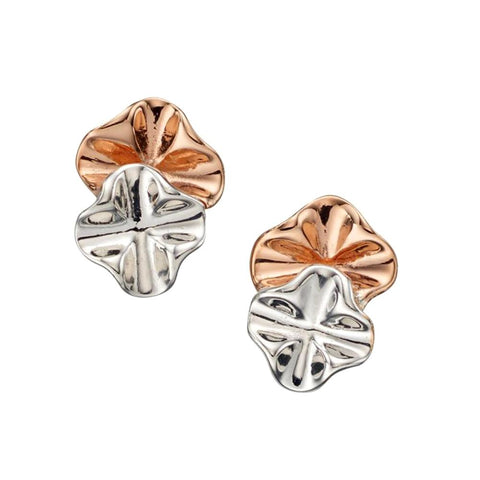 Ruffle Stud Earrings from the Earrings collection at Argenteus Jewellery