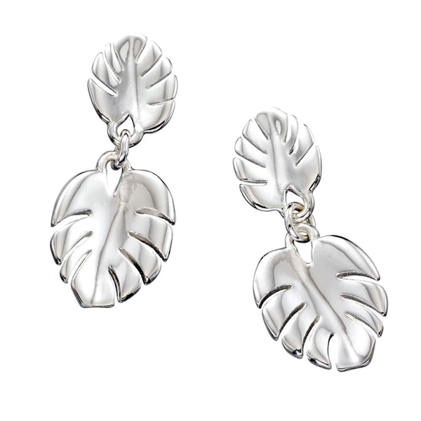 Cheeseplant Leaves Earrings from the Earrings collection at Argenteus Jewellery
