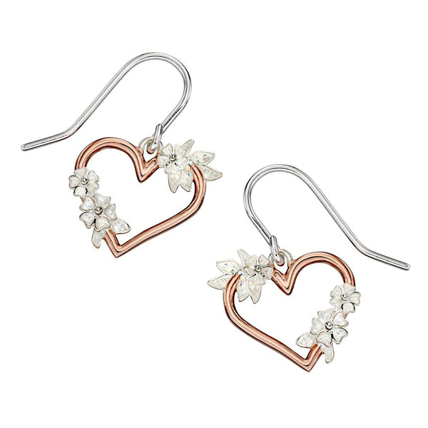 Heart and Flowers Earrings from the Earrings collection at Argenteus Jewellery