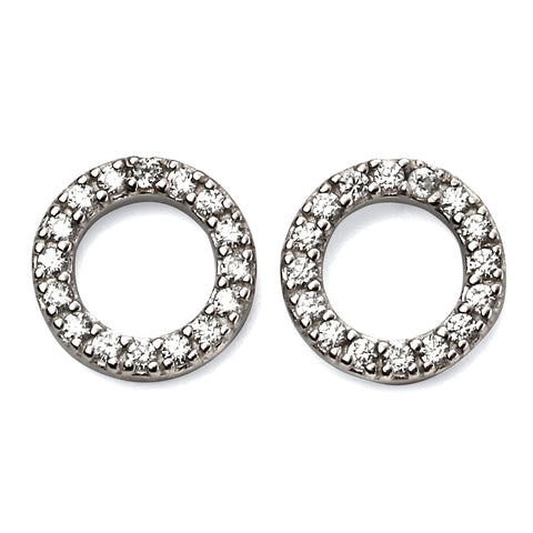 Circle Crystals Stud Earrings from the Earrings collection at Argenteus Jewellery